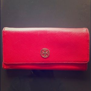 Tory Burch red/orange color wallet